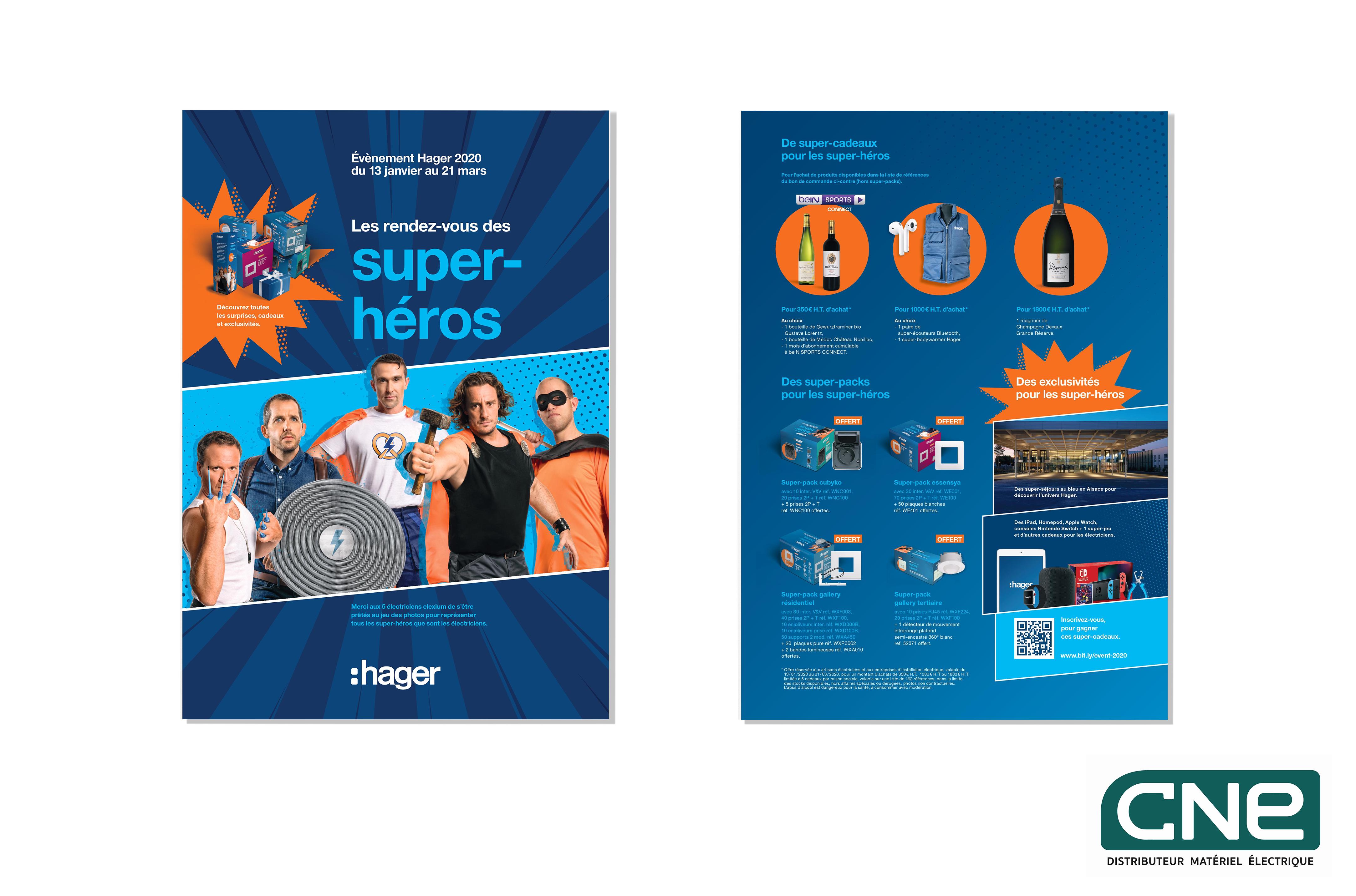 LE RENDEZ VOUS DES SUPER-HEROS – HAGER CNE